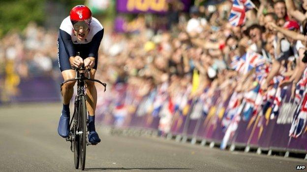 Bradley Wiggins in the London Olympics