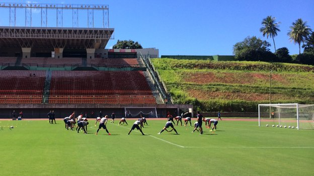 US team during training in Salvador on 29 June 2014