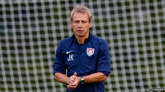Jurgen Klinsmann during a training session on 29 June 2014