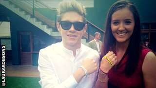 Niall Horan and Laura Robson