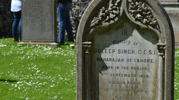 The grave of Duleep Singh
