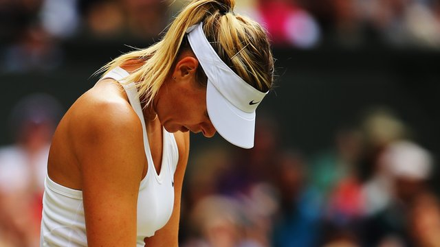 Maria Sharapova is beaten at Wimbledon