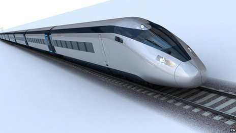 Artist's impression of the potential HS2 train design.
