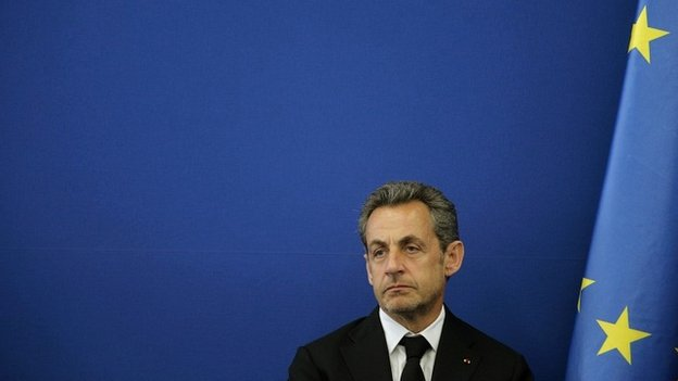 Nicolas Sarkozy during a ceremony at the Foundation Claude Pompidou in Nice - 10 March 2014