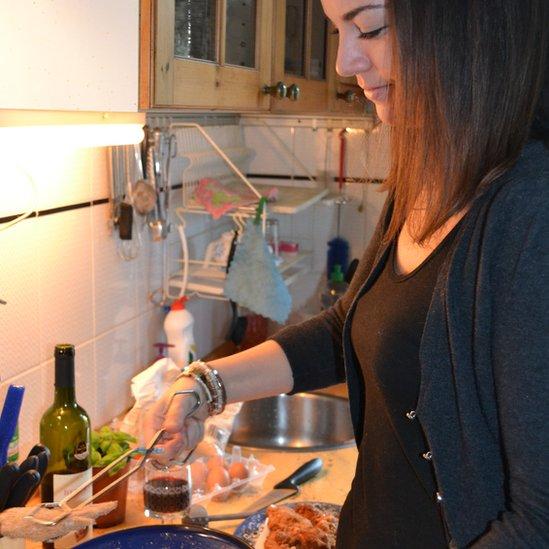 Judit Szilagyi cooking