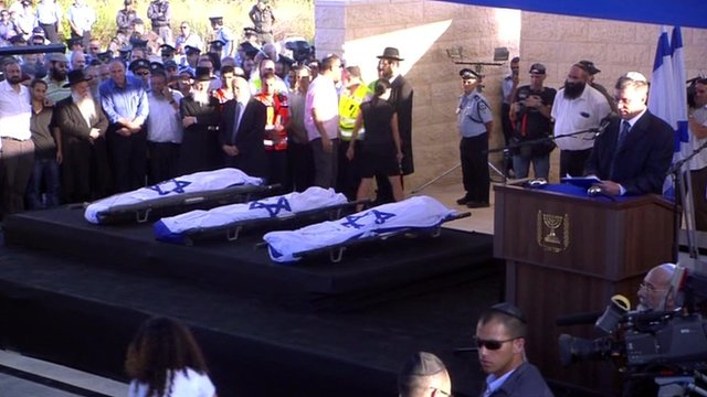 Funeral for three teenagers