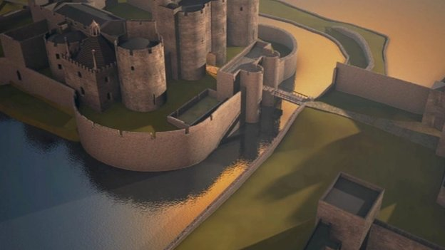 Caerphilly Castle - complete again
