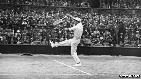 Rene Lacoste during Wimbledon men's final in 1925
