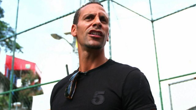 Rio Ferdinand spent some time at Santa Marta favela