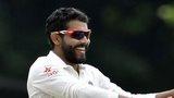 India's Ravindra Jadeja celebrates a wicket