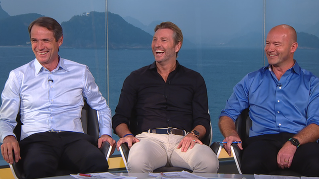 Alan Hansen, Robbie Savage and Alan Shearer