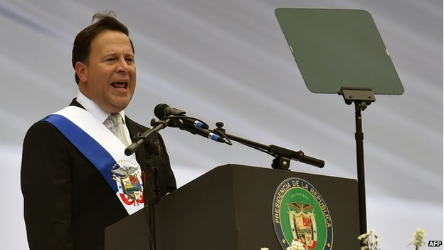 Juan Carlos Varela at inauguration ceremony