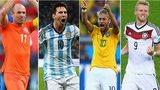 World Cup 2014: Arjen Robben, Lionel Messi, Neymar, Andre Shurrle