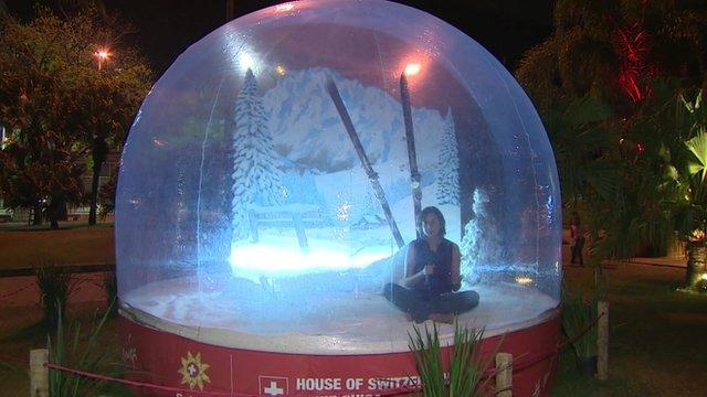 Swiss kiosk in Rio de Janeiro