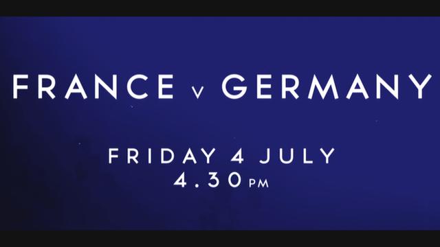 Watch France v Germany live on the BBC
