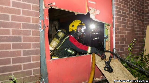 Firefighter at Wednesbury Leisure Centre