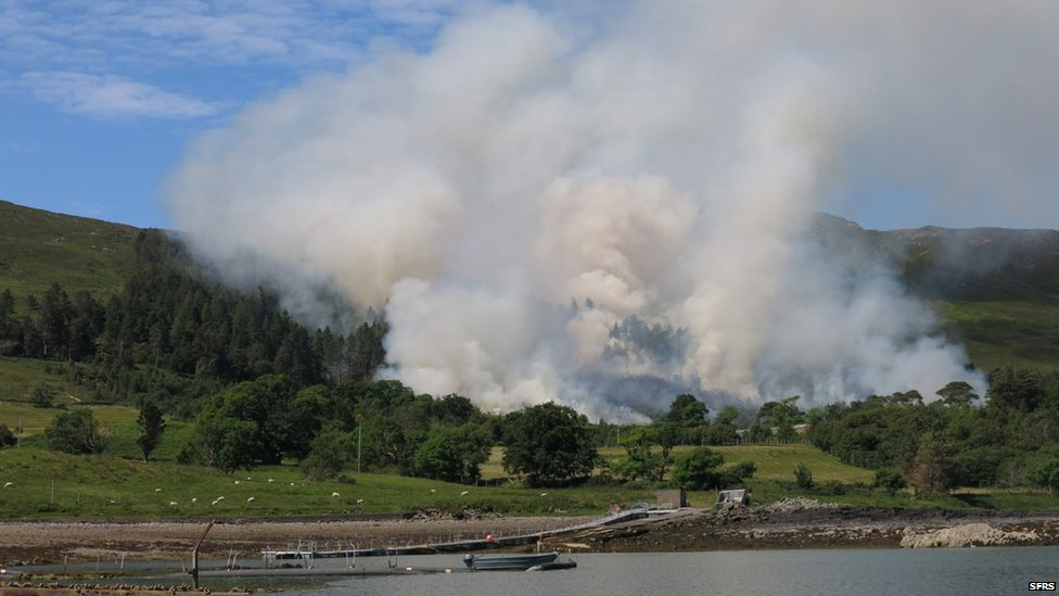 Wildfire on Scalpay