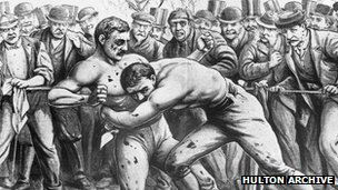 Tom King fights John Heenan in 1863