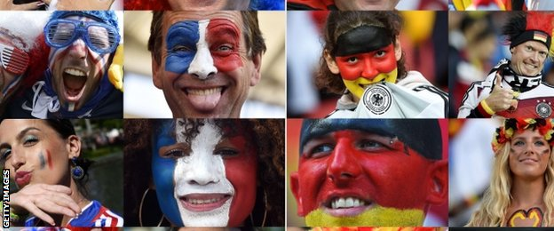 France and Germany fans