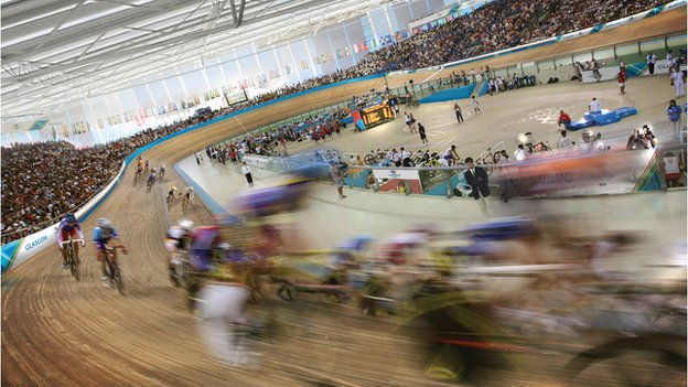 Glasgow indoor velodrome