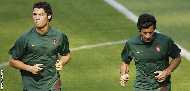 Cristiano Ronaldo and Luis Figo are famous Sporting graduates
