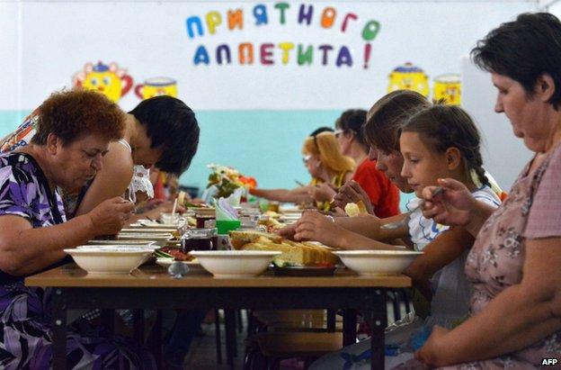 Ukrainian refugees in a camp in Blagodatny, Stavropol region, Russia, 28 June