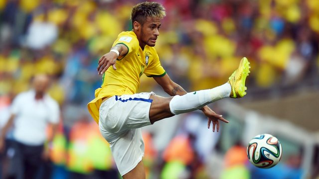 Neymar shows off his skills