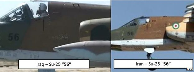 Image released by IISS showing jet serial numbers