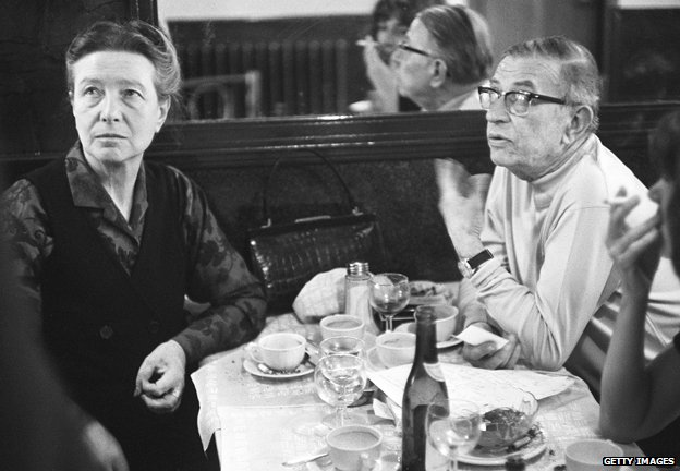 Simone de Beauvoir and JP Sartre