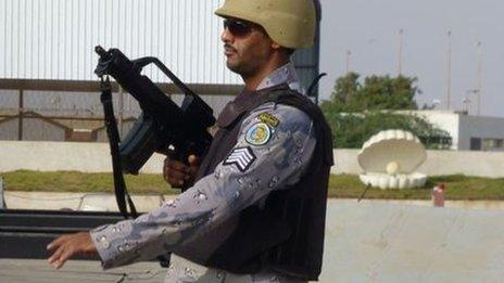 Saudi Arabian border guard