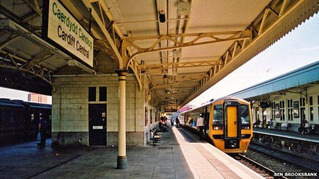 Cardiff Central Station platform