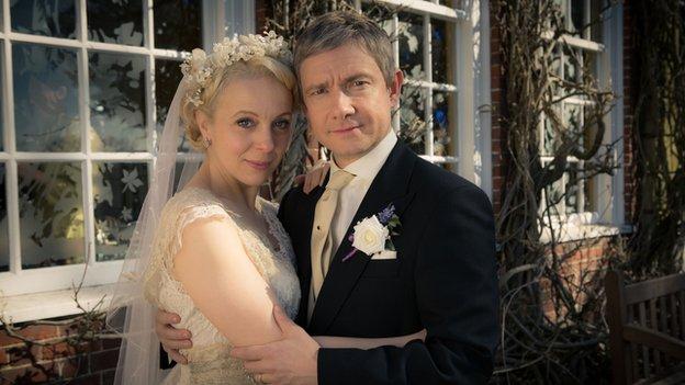 Amanda Abbington Sherlock Wedding BBC News - Sher...
