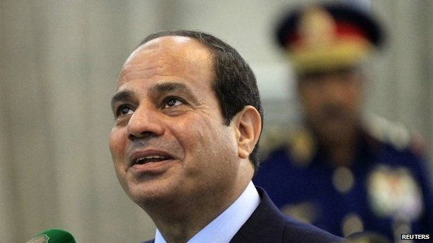 Egypt's President Fattah al-Sisi in Khartoum on 27 June