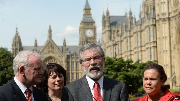 Sinn Fein delegation at Westminster