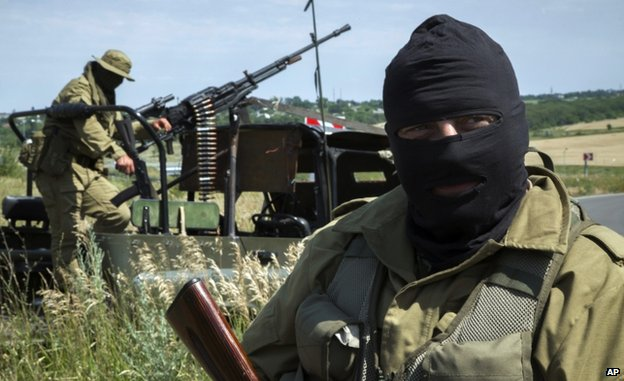 Pro-Russian fighters near Luhansk (2 July)