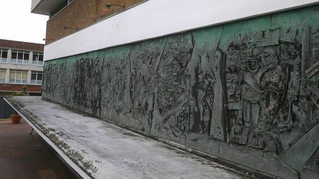 A 1960s frieze in Bracknell