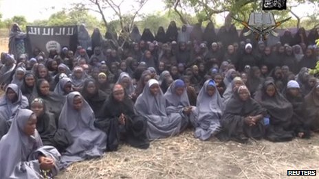 An image purportedly showing the Nigerian schoolgirls