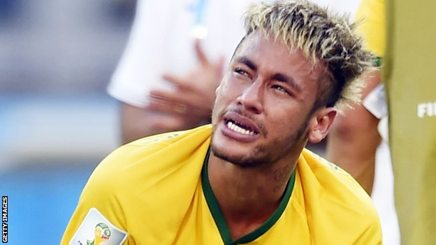 Neymar gets emotional after Brazil's win on penalties over Chile