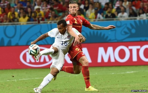 Julian Green scores against Belgium