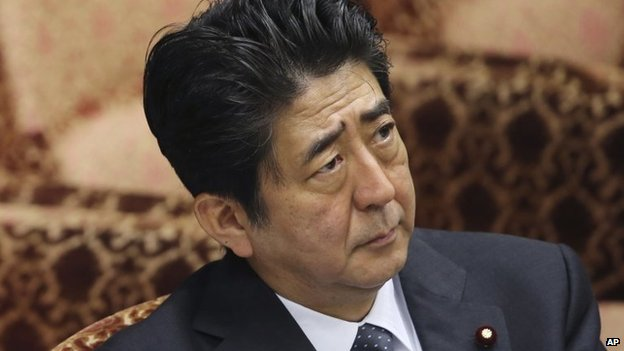 Japanese Prime Minister Shinzo Abe, seen in file image from 29 May 2014