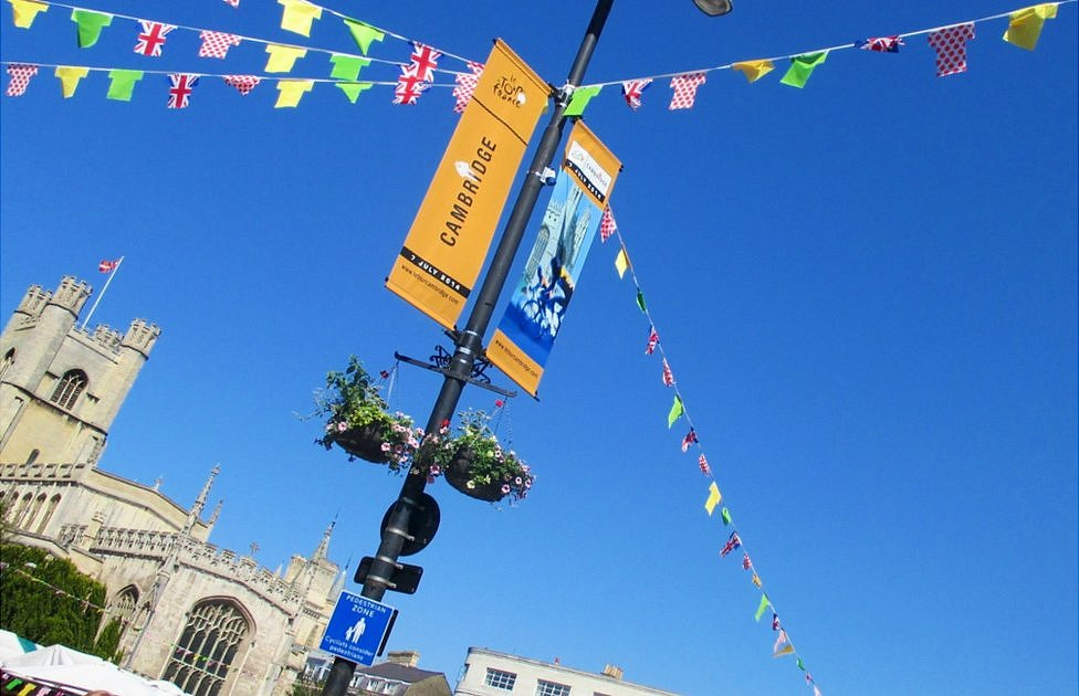 Day three of the Tour de France will begin in the university city of Cambridge
