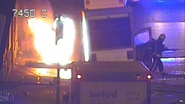 Lorry fire in London