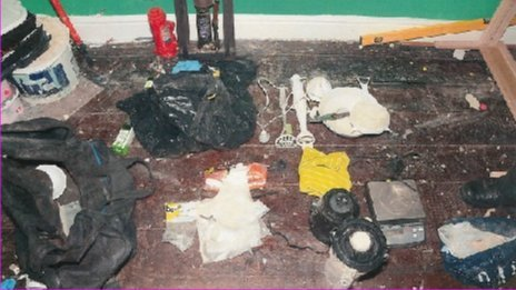 Drugs and equipment seized during police operation
