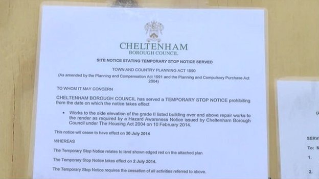 The council stop notice