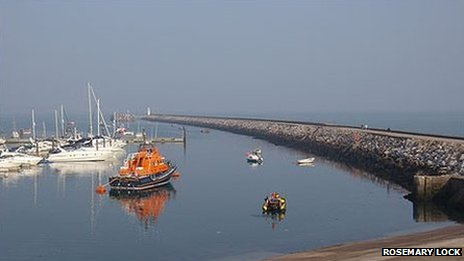 Brixham breakwater. Pic: Rosemary Lock