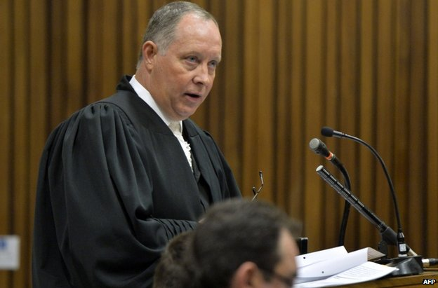 Oscar Pistorius's defence lawyer Kenny Oldwage in court in Pretoria, South Africa, 3 July