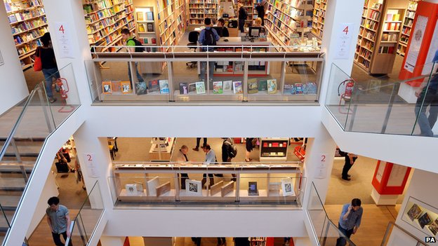 Foyles book shop in London