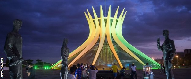 Metropolitan Cathedral of Our Lady Aparecida is the Roman Catholic cathedral and the seat of the Archdiocese of Brasilia designed by Oscar Niemeyer