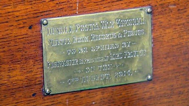 time capsule plaque