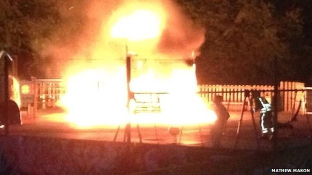 Fire at Droitwich Spa Lido playground